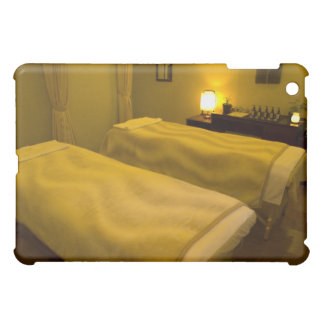 Two beds in the beauty salon, high angle view, iPad mini case