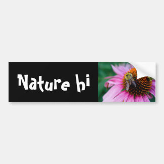 two bees car bumper sticker