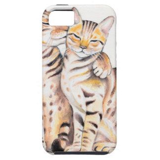 Two Bengal Cats Watercolor Art Case For The iPhone 5