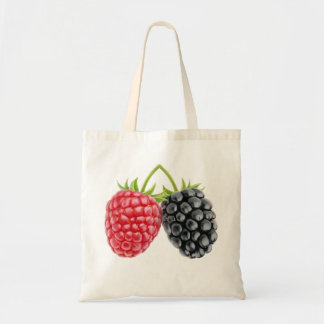 Two berries budget tote bag