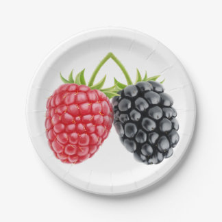 Two berries paper plate