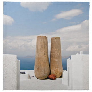 Two big pots on Santorini island Napkin