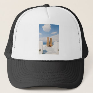 Two big pots on Santorini island Trucker Hat