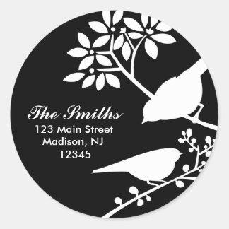 Two Birds Address Labels Round Stickers
