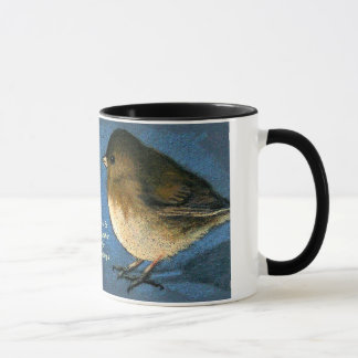 Two Birds Facing: Coffee, Conversation, Friendship Mug