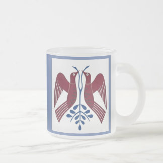 two birds two ways, 10oz frosted glass mug