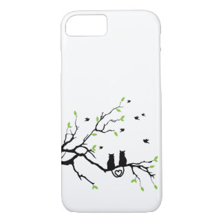 Two Black Cats in Love iPhone 7 Case