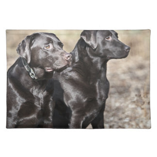 Two Black Labrador retrievers Placemat