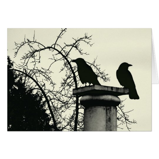 Two Blackbirds 5x7 Card