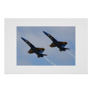 Two Blue Angels Poster