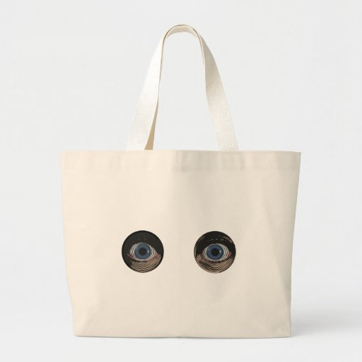Two Blue Eyes in Color Bags