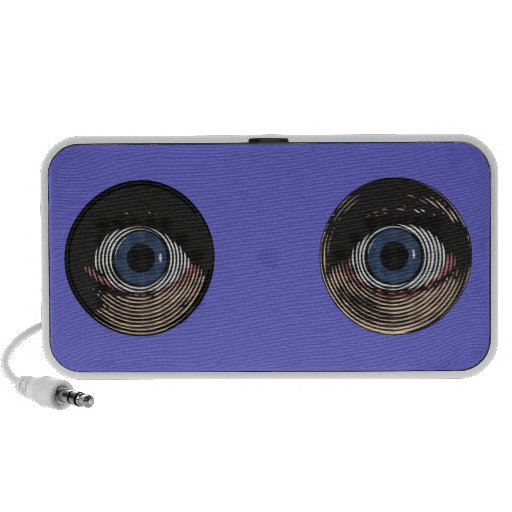 Two Blue Eyes in Color iPod Speakers