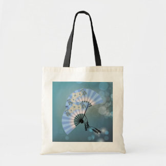 Two blue fans tote Bag