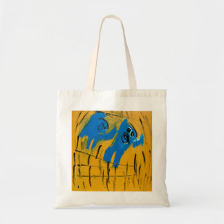 Two Blue Men by Johnny Tote Bag