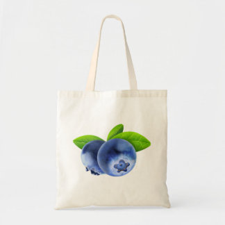 Two blueberries tote bag