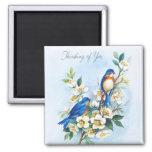 Two Bluebirds Magnet