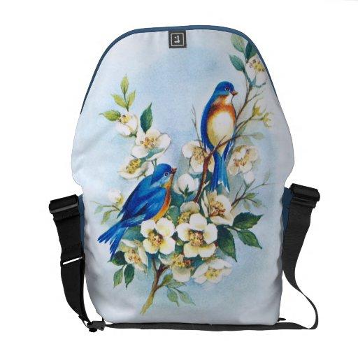 Two Bluebirds Commuter Bag