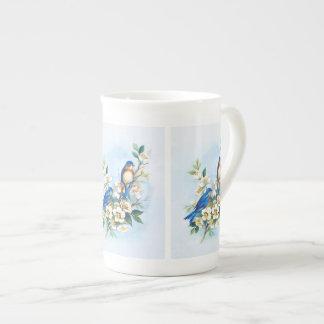 Two Bluebirds Tea Cup