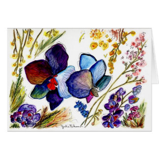 Two BlueOrchids Card 37 Card