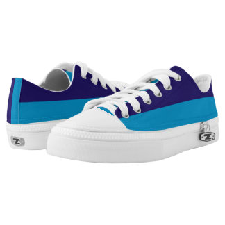 Two Blues Two-Tone Lo-Top Printed Shoes