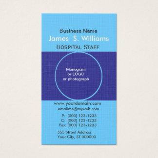 Two Blues Unique Business Deep Blue Edgy Designer Business Card
