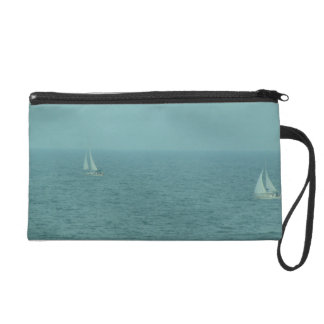 Two Boats on the Ocean Wristlet
