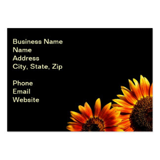 Two Bold Sunflowers Business Card Template