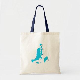 Two Bottles Blue White Tote Bag