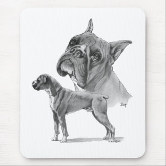 Two Boxer Dogs Mouse Pad