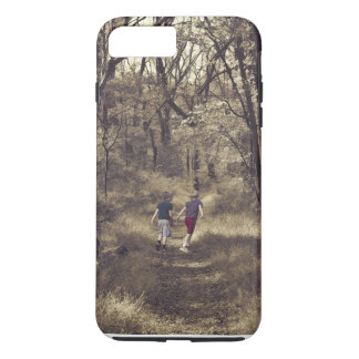 Two Boys On a Forest Path iPhone 7 Plus Case
