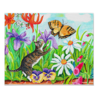Two Branching Out kid's wall art - Daisy our Cat