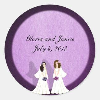 Two Brides Lesbian Wedding Custom Stickers