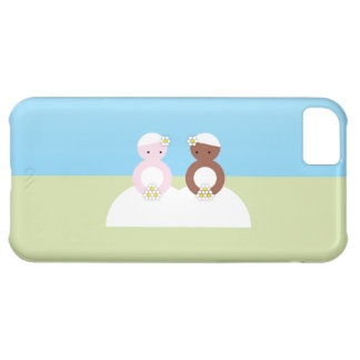 Two brides one caucasian one colored cover for iPhone 5C