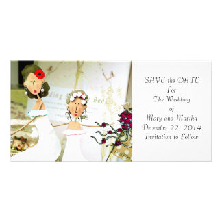 Two Brides Save the Date Card