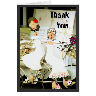 Two Brides Thank You Note Card