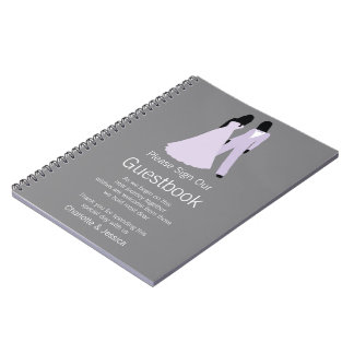 Two Brides Wedding Guestbook. Notebook