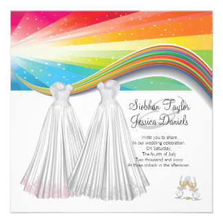 Two Brides Wedding Personalized Announcements