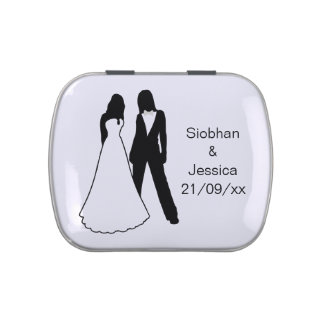 Two Brides Wedding Jelly Belly Tin