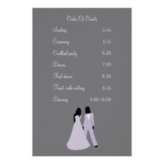 Two Brides Wedding (Lilac and Grey) Events Poster