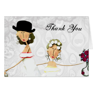 Two Brides Wedding Thank You Card