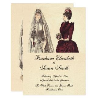 Two Brides Wedding Vintage Card