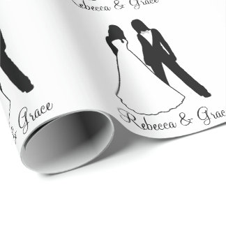 Two Brides Wedding Wrapping Paper