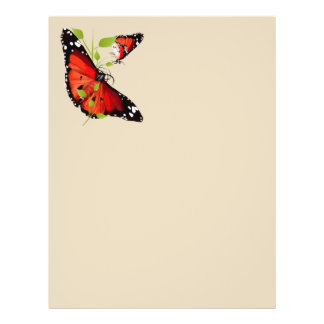 TWO BRIGHT ORANGE BUTTERFLY FLYER