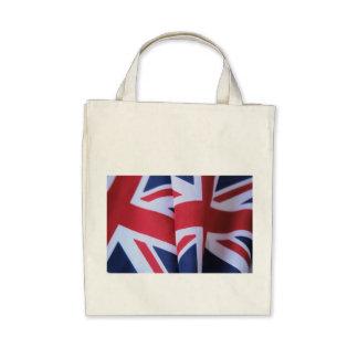 two British flags organic tote bag