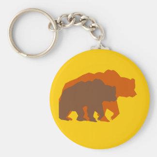 Two Brown Bears Keychain
