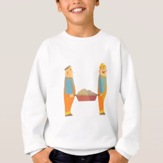Two Builders With Barrow On Construction Site Sweatshirt