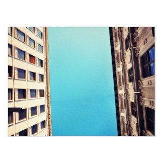 Two buildings 17 cm x 22 cm invitation card