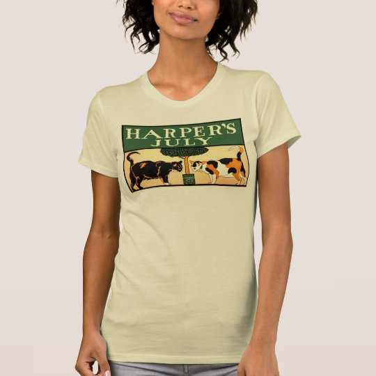 Two calico cats, Edward Penfield, Harper's July T-Shirt