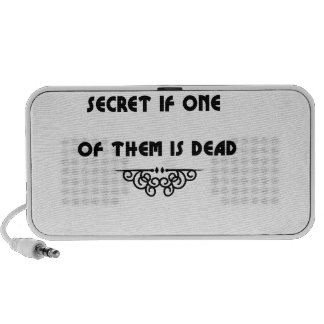 two can keep a secret if one of them is dead travel speaker