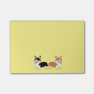 Two Cartoon Welsh Corgis Post-it® Notes